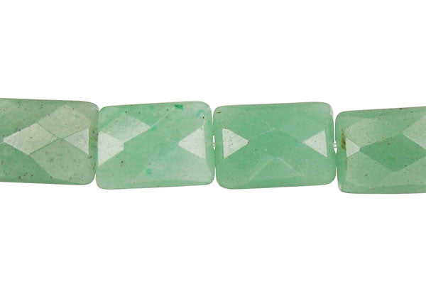 Green Aventurine Faceted Rectangle Beads