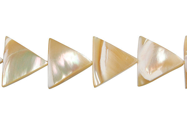 Shell (Natural MOP) Triangle Beads