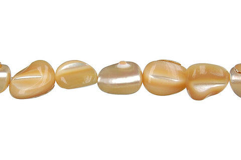 Shell (Natural MOP) Tooth Nugget Beads
