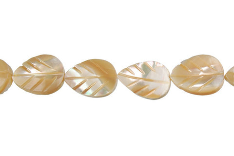 Shell (Natural MOP) Leaf Beads