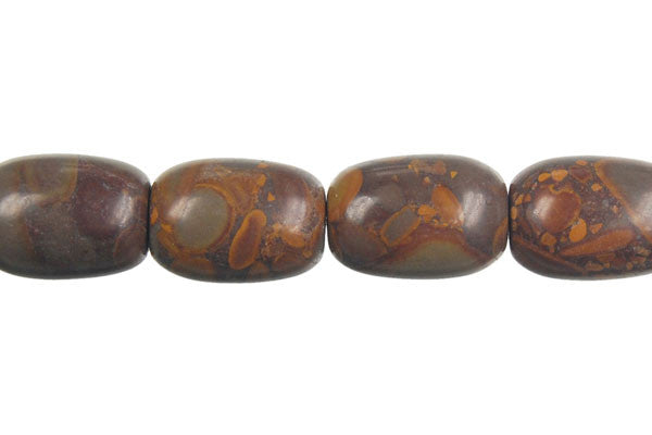 Golden Jasper Drum Beads