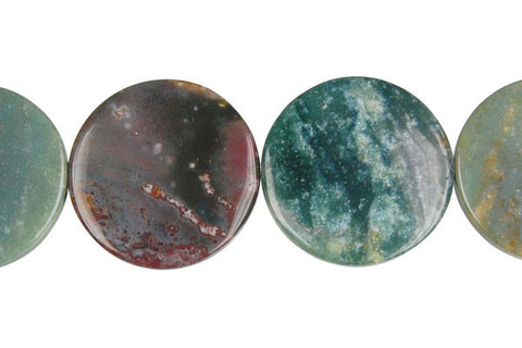 Fancy Jasper Coin Beads