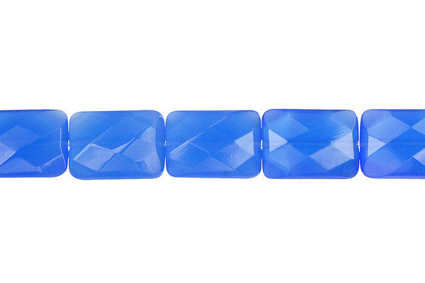 Blue Quartz Faceted Rectangle