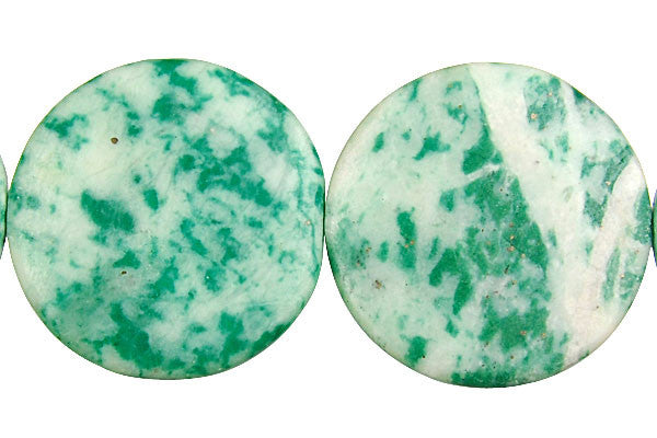 Tree Agate Coin Beads