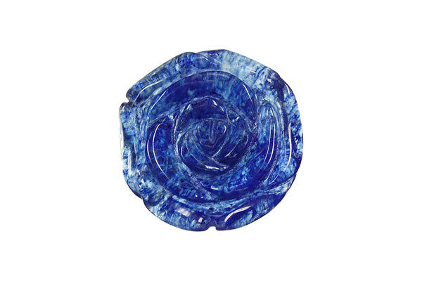 Pendant Blueberry Quartz Carved Rose