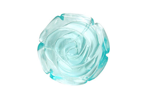 Pendant Aqua Quartz Carved Rose