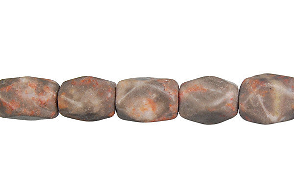Sunset Jasper Faceted Nugget Beads