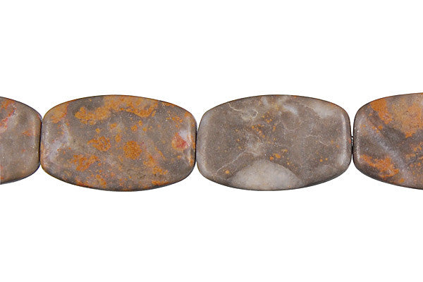 Sunset Jasper Oval Rectangle Beads