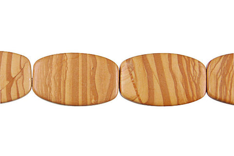 Wood Jasper Oval Rectangle Beads