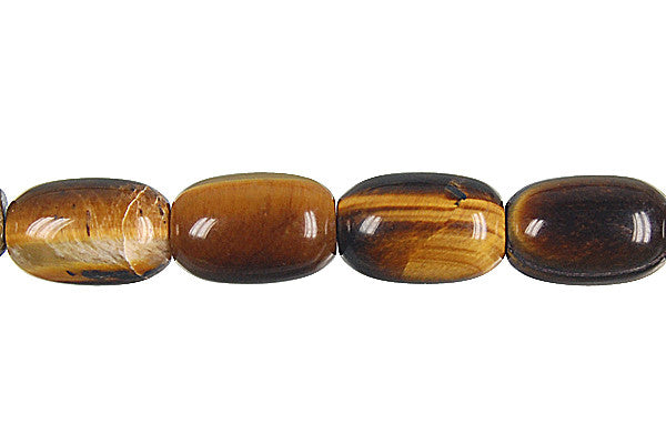 Tiger Eye Drum Beads