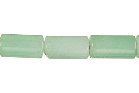 Green Aventurine Tube Beads