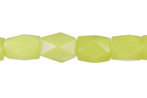 Olive Jade (Light) Faceted Nugget Beads