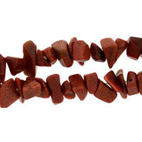 Gold Stone Chips Beads