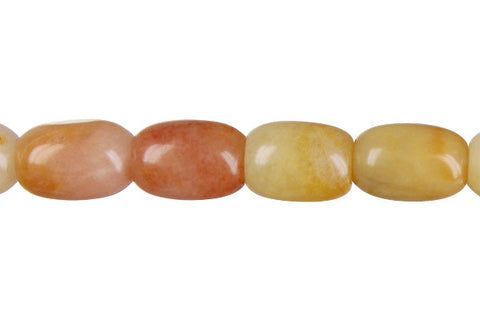 Yellow Jade Drum Beads