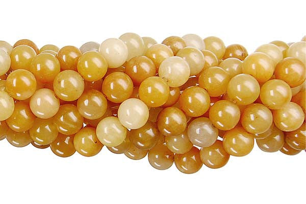 Yellow Jade Round Beads
