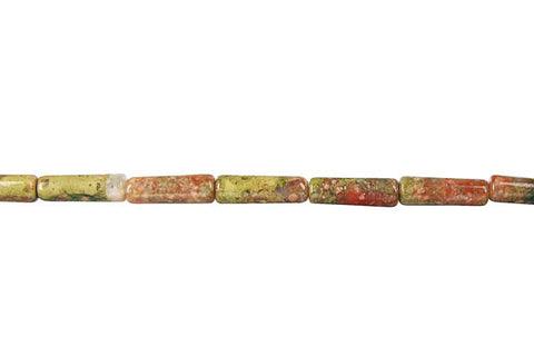 Unakite Square Tube Beads
