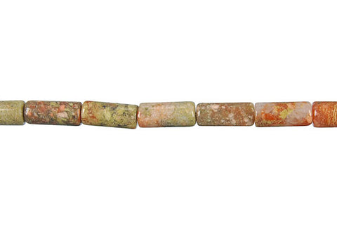 Unakite Tube Beads