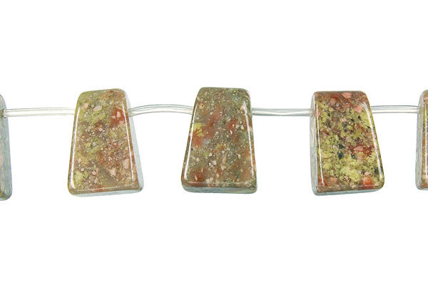 Unakite Rectangle Pendant Beads