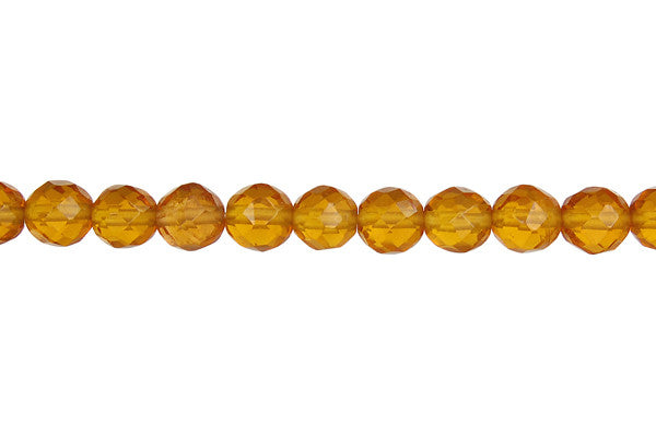 Amber Quartz Faceted Round