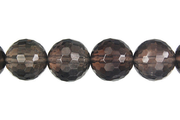 Smoky Quartz Faceted Round