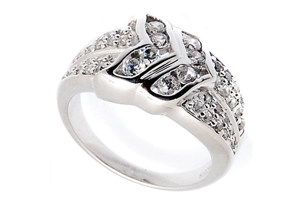 Sterling Silver CZ Paved Ring Style (la100)