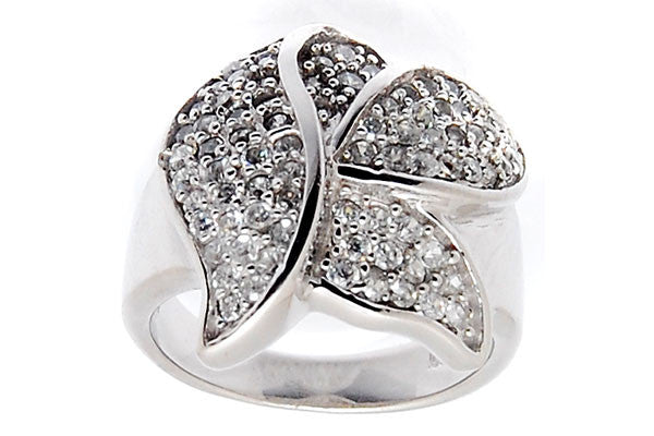 Sterling Silver CZ Paved Ring Style (la101)