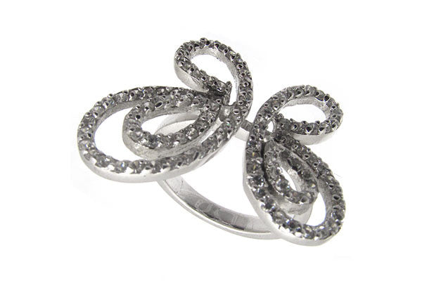 Sterling Silver CZ Paved Ring Style (la12)