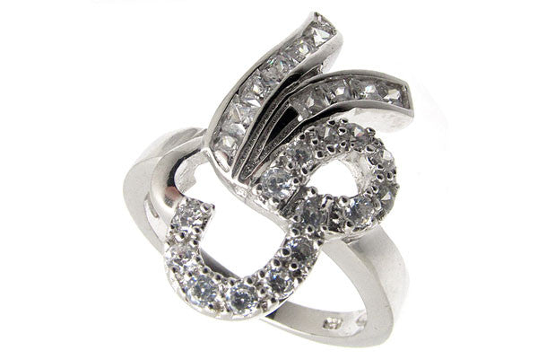 Sterling Silver CZ Paved Ring Style (la13)