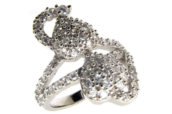 Sterling Silver CZ Paved Ring Style (la14)