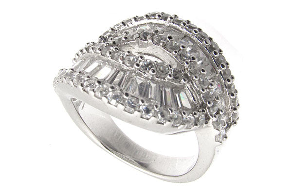 Sterling Silver CZ Paved Ring Style (la16)