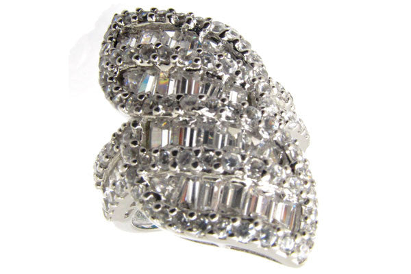 Sterling Silver CZ Paved Ring Style (la17)
