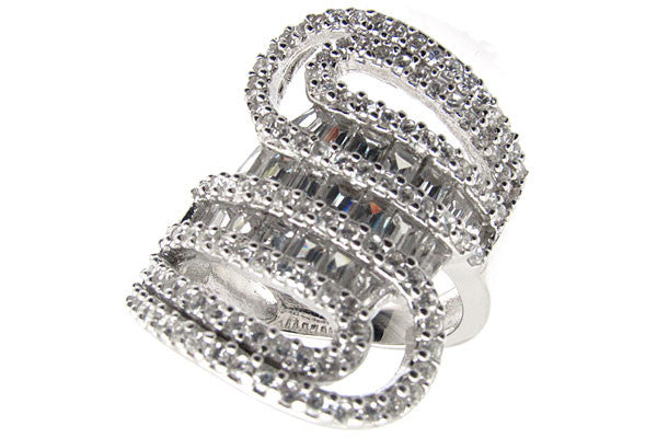 Sterling Silver CZ Paved Ring Style (la2)