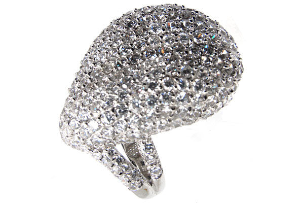 Sterling Silver CZ Paved Ring Style (la21)