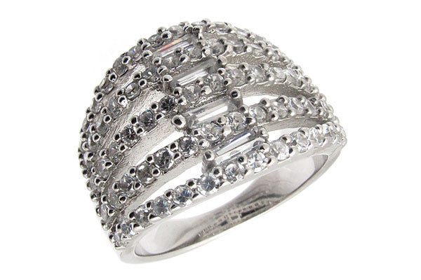 Sterling Silver CZ Paved Ring Style (la3)