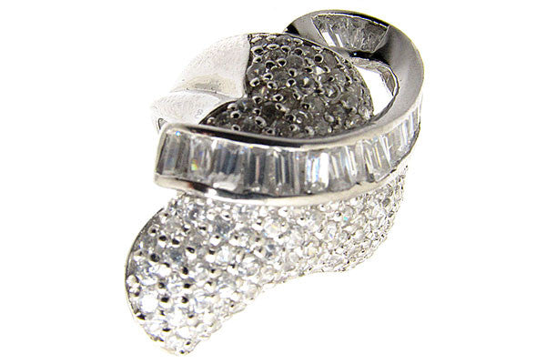 Sterling Silver CZ Paved Ring Style (la5)