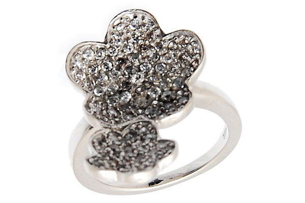 Sterling Silver CZ Paved Ring Style (la84)