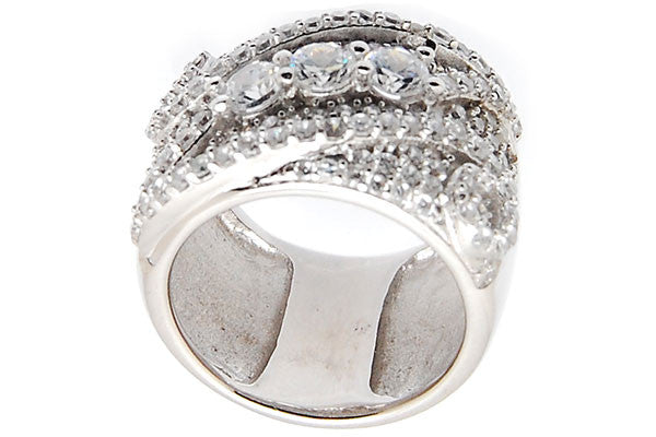 Sterling Silver CZ Paved Ring Style (la85)