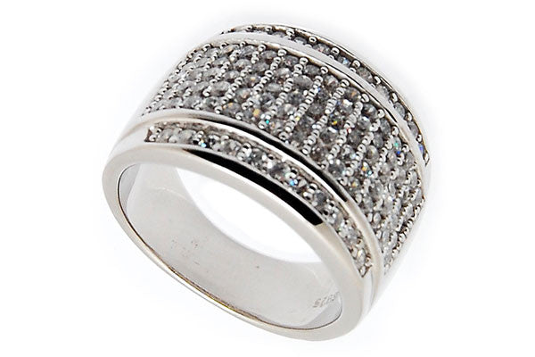 Sterling Silver CZ Paved Ring Style (la86)