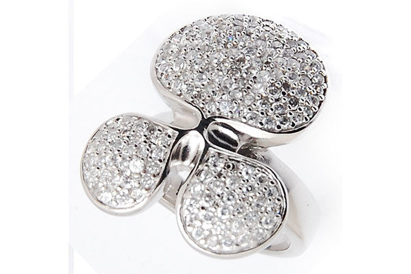 Sterling Silver CZ Paved Ring Style (la91)