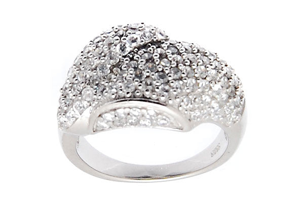Sterling Silver CZ Paved Ring Style (la93)