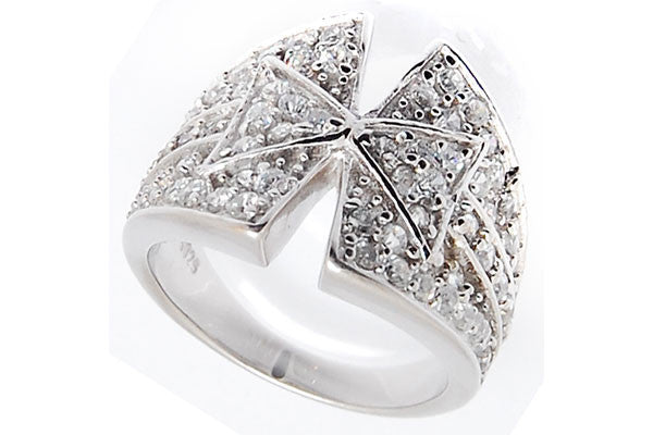 Sterling Silver CZ Paved Ring Style (la97)