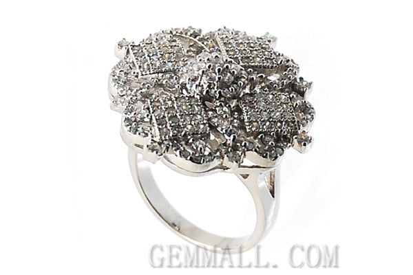 Sterling Silver CZ Paved Ring Style (rha0002)