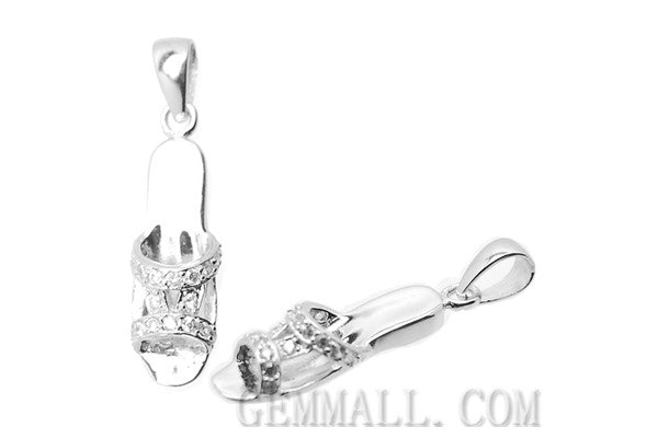 Sterling Silver CZ Paved Pendant Style (rhp0044), Sandal