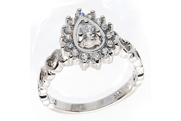Sterling Silver CZ Paved Ring Style (zy122)