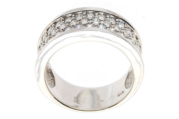 Sterling Silver CZ Paved Ring Style (zy186)