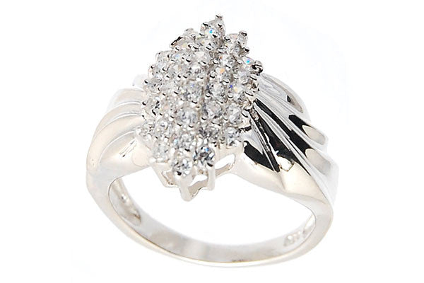 Sterling Silver CZ Paved Ring Style (zy191)