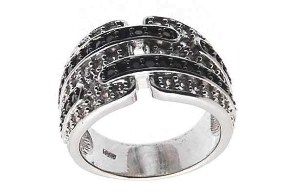 Sterling Silver CZ Paved Ring Style (zy249)