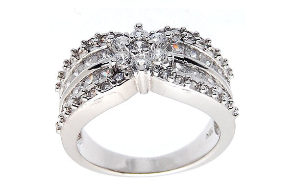 Sterling Silver CZ Paved Ring Style (zy275)
