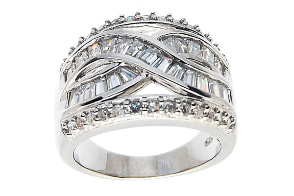 Sterling Silver CZ Paved Ring Style (zy280)