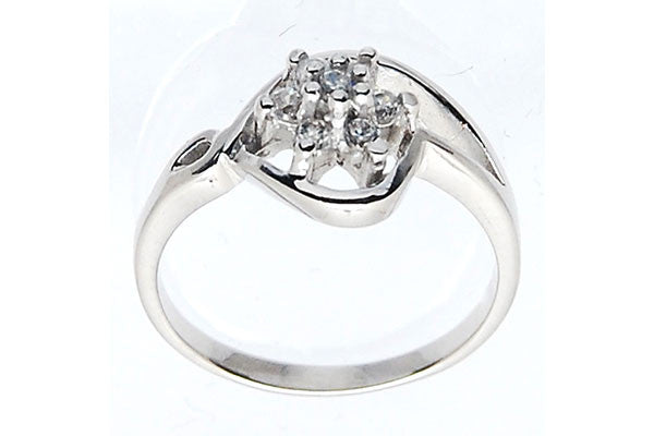 Sterling Silver CZ Paved Ring Style (zy301)
